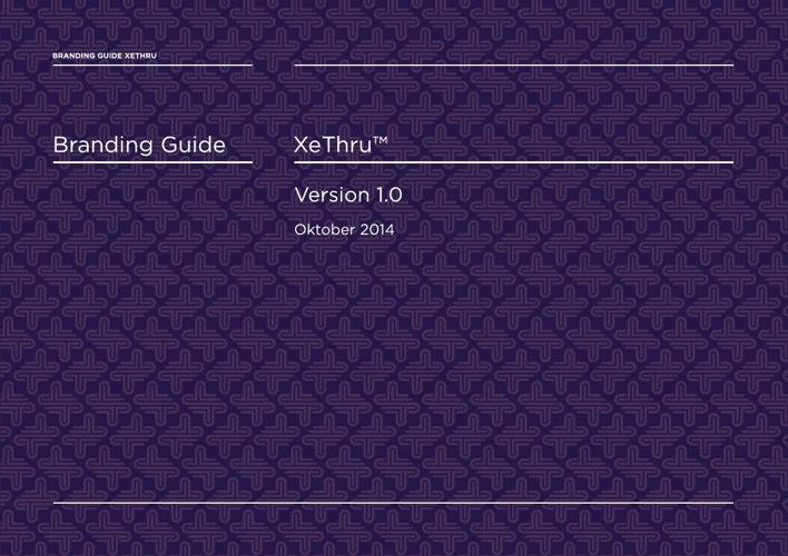 Branding guide XeThru