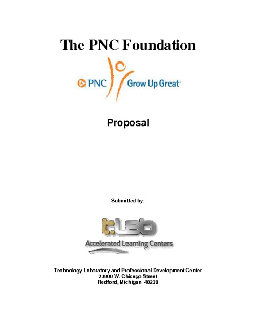 The PNC Foundation Grant Application & Appendices