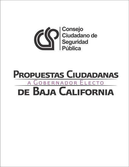 Propuestas Ciudadanas a Gobernador Electo de Baja California