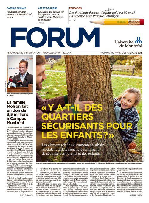Forum - semaine du 30 mars 2015