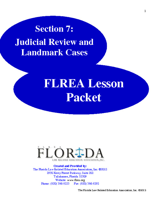 Section 7 - Judicial Review and Landmark Cases