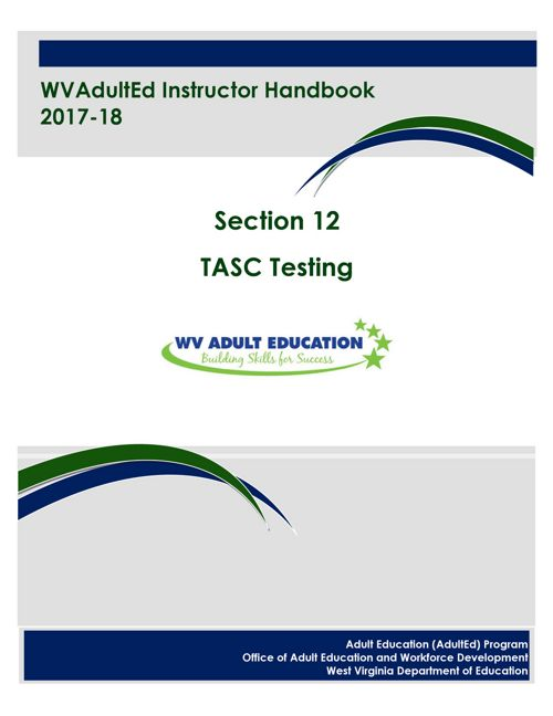 WVAdultEd Instructor Handbook Section 12