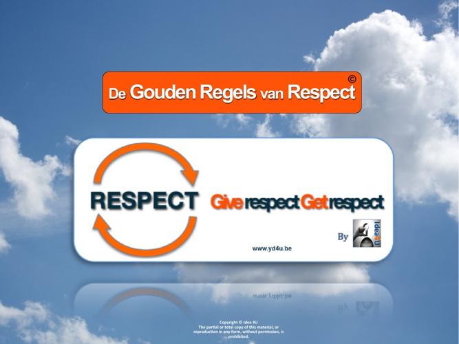 de Gouden Regels van Respect