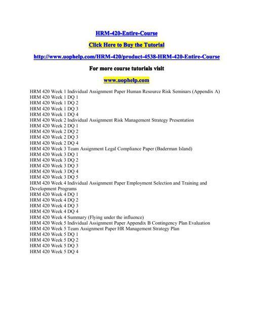 HRM-420-Entire-Course