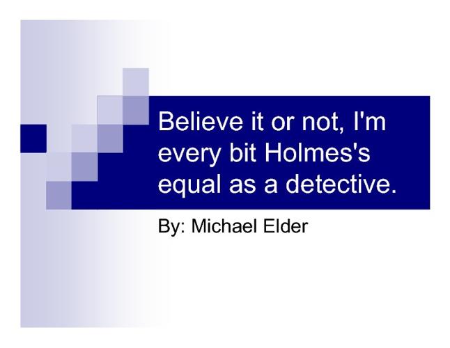 Michael Elder