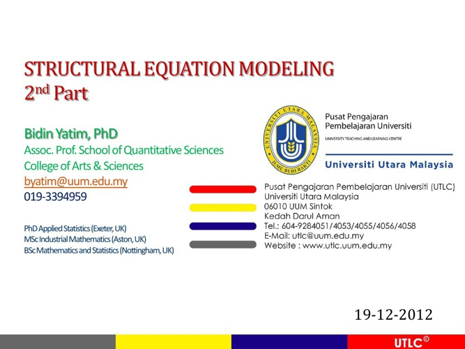 STRUCTURAL EQUATION MODELING 2nd Part