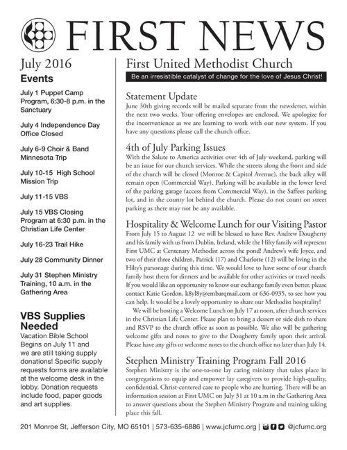 First News July 2016