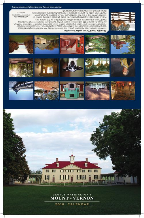 Mount Vernon 2016 Calendar