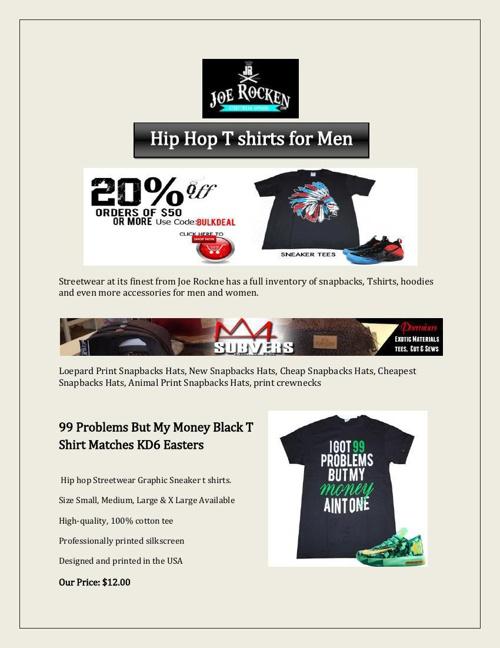 Hip Hop T shirts for Men
