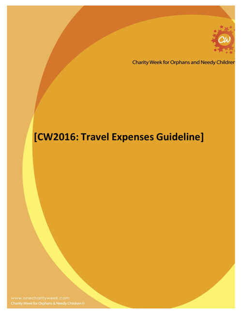 CW2016- Travel Policy
