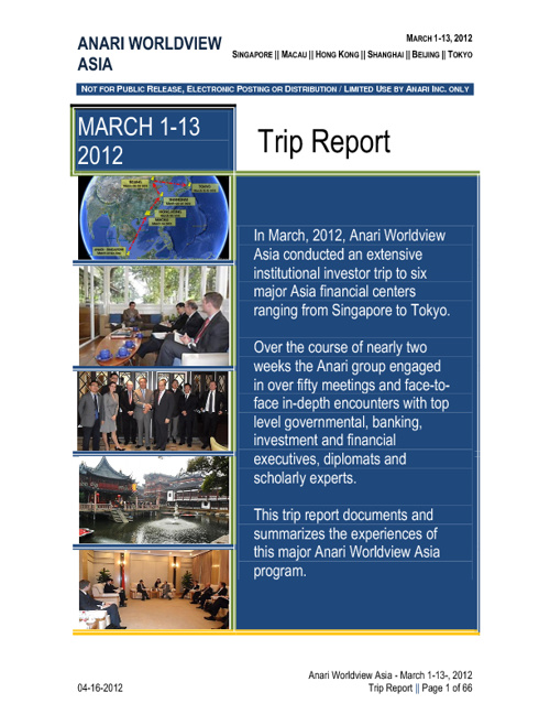 Anari Worldview Asia March 1-13, 2012 Trip Report