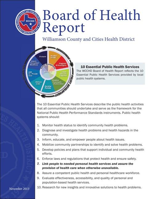 Board of Health Report November 2013