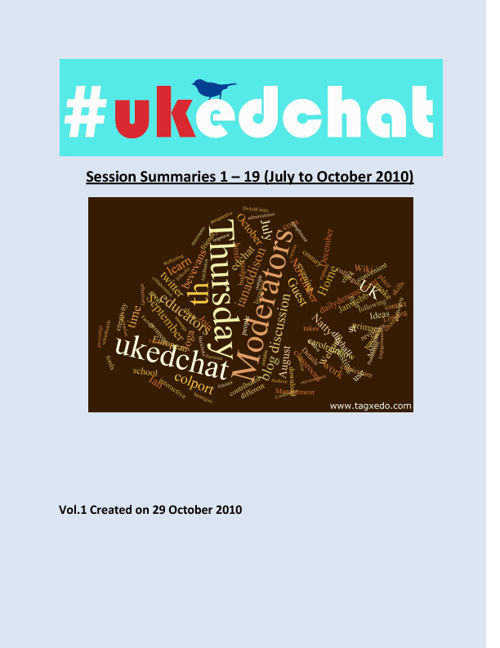 ukedchat summaries 1-19