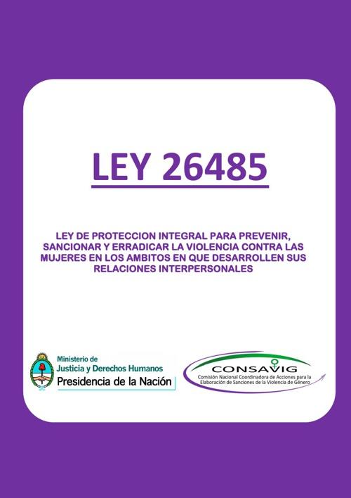 Ley 26485 de Protección Integral a las Mujeres
