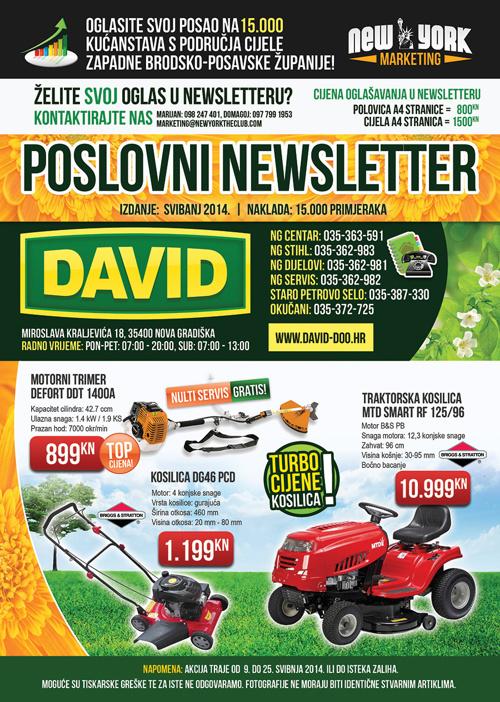 DAVID Poslovni Newsletter - Svibanj 2014.