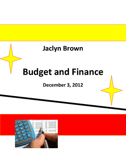 Jaclyn Brown Budget and Finance
