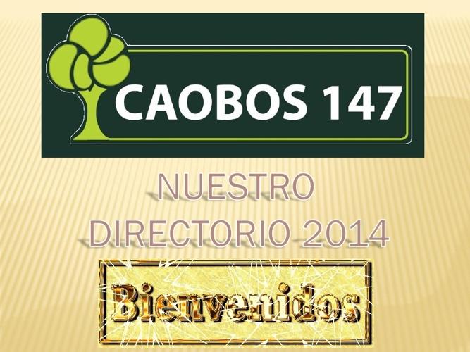 DIRECTORIO CAOBOS147 2014