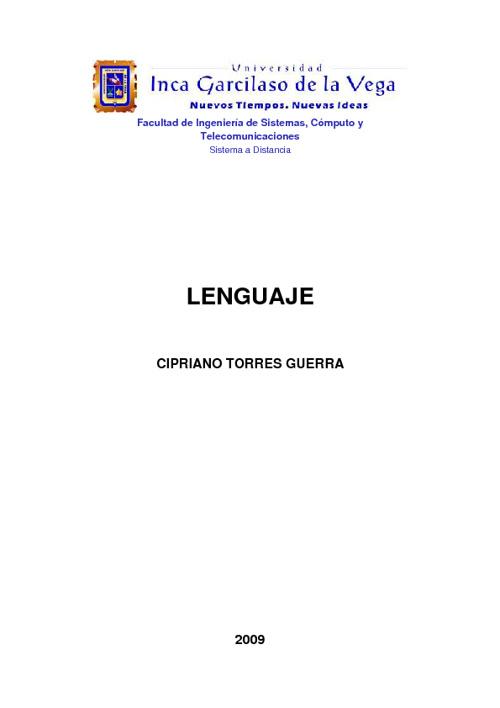 LJ001 - Lenguaje - Ciclo I - UIGV