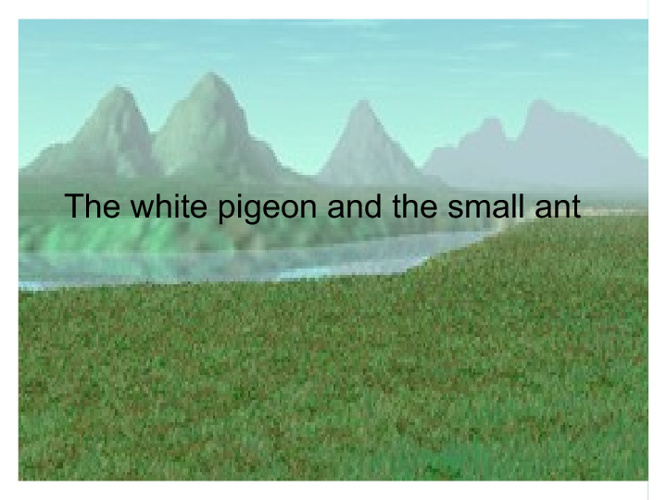 The white pigeon and the small ant