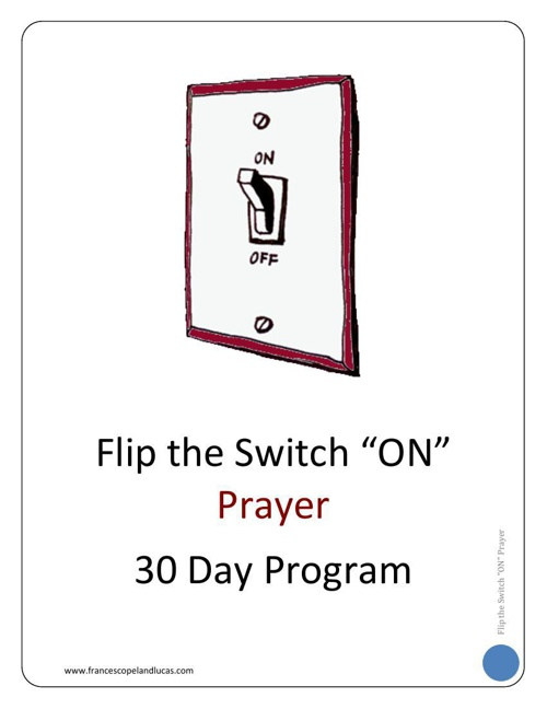 PRAYER - 30 Day Program Workbook - Chapter 1