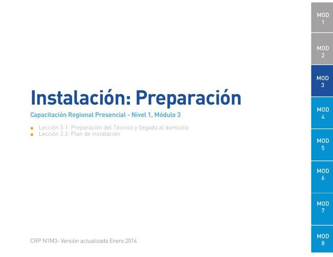 Módulo 3 - Instalación: Preparación