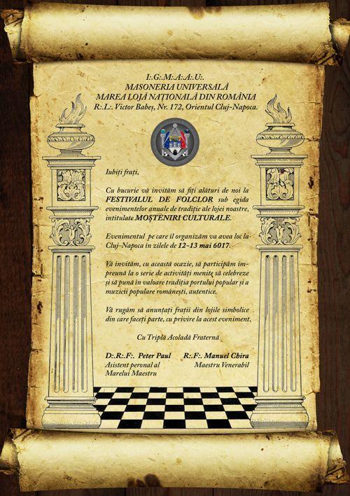Invitație - Moșteniri Culturale - Mai 6017