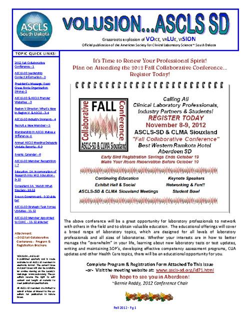 VOLUSION...ASCLS-SD Fall 2012
