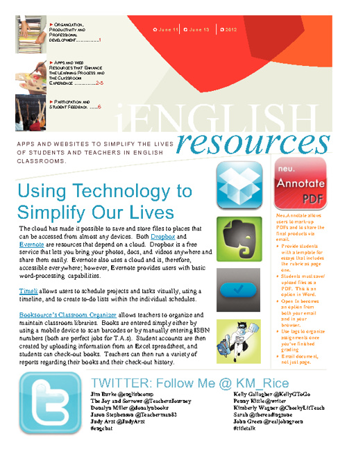 iEnglish Resources June 2012