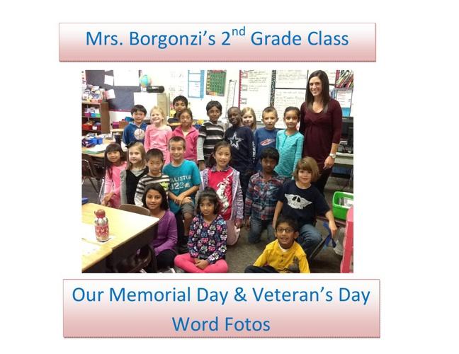 Mrs. Borgonzi's Memorial Day & Veteran's Day WordFotos