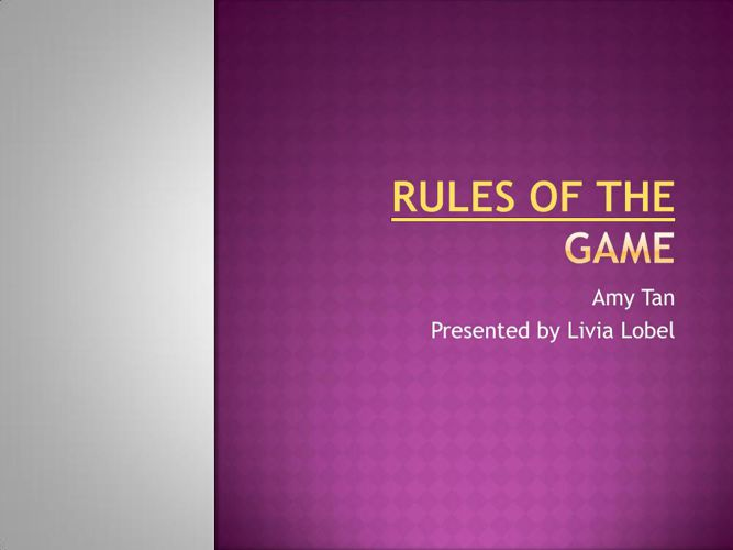 Rules of the Game-part4