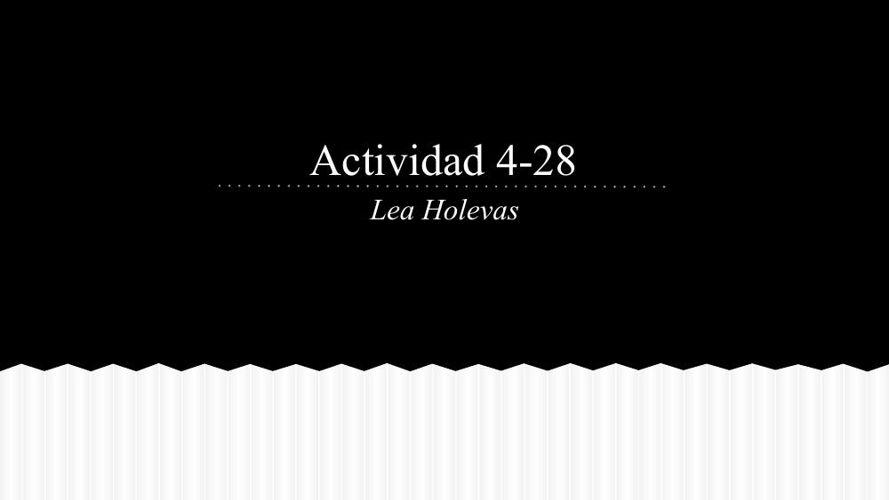 Actividad 4-28 - Google Slides