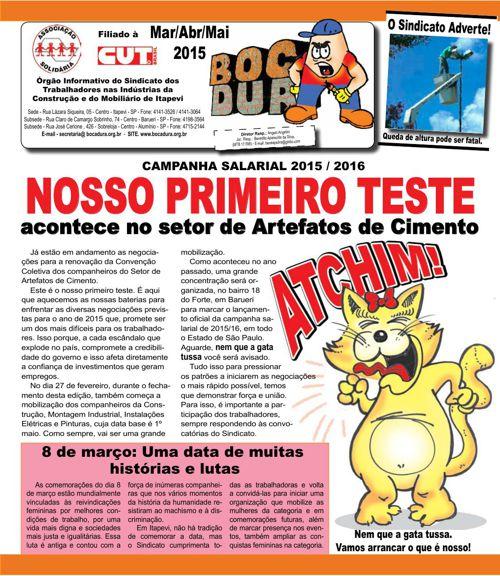 Informativo Mar/Abr/Maio de 2015