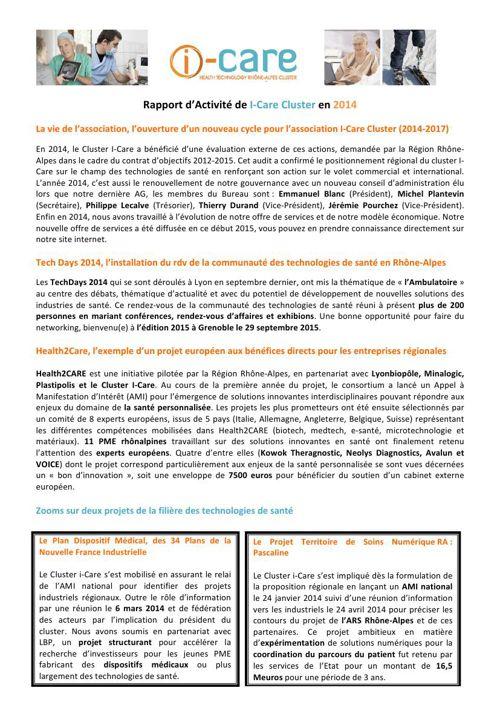 Rapport d'activité 2014-VF