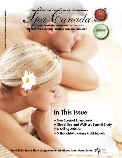 Spa Canada Magazine, Nov/Dec 2012
