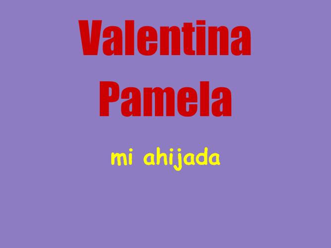 Valentina mi ahijada