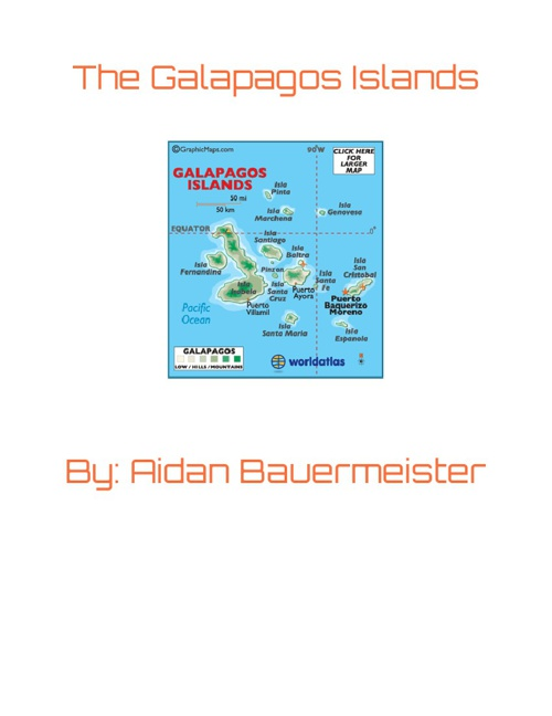Aidan Bauermeister Galapagos Islands Book