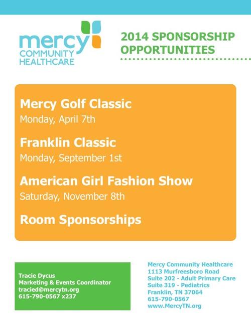 2014 Mercy Sponsorship Packet