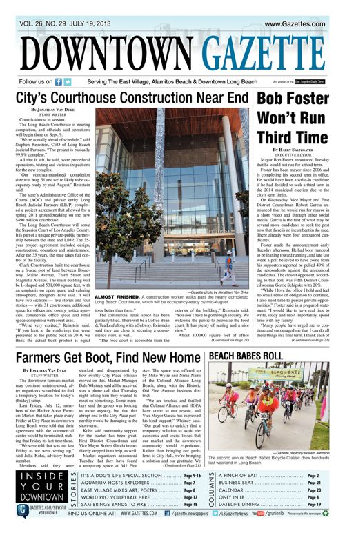 Downtown Gazette  |  July 19, 2013