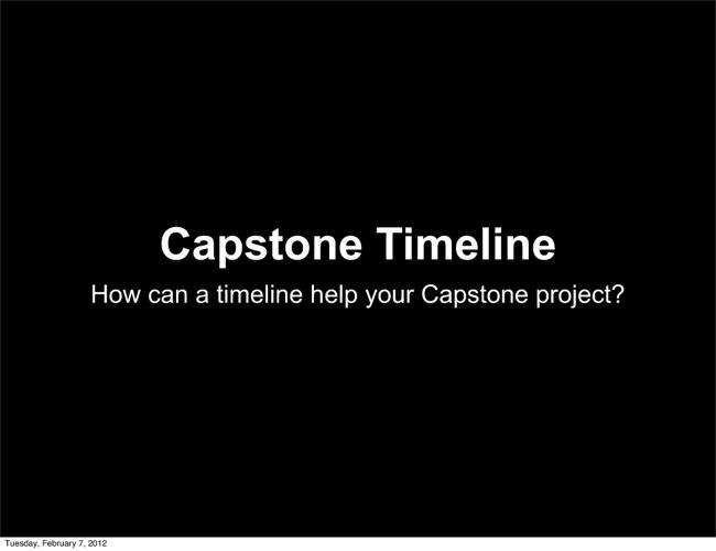 Capstone Timeline