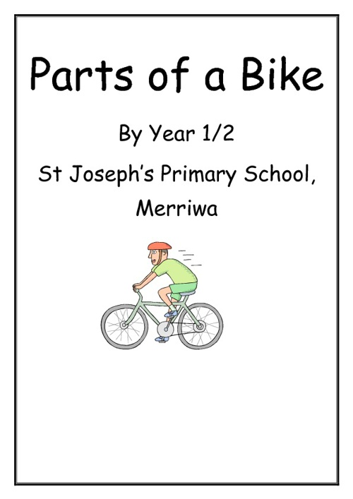 Parts of a Bike, by Year 1/2