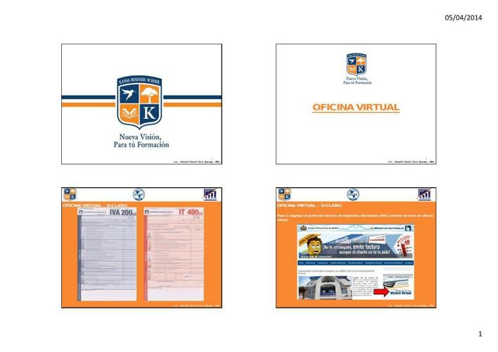 Presentación KBS - Oficina Virtual