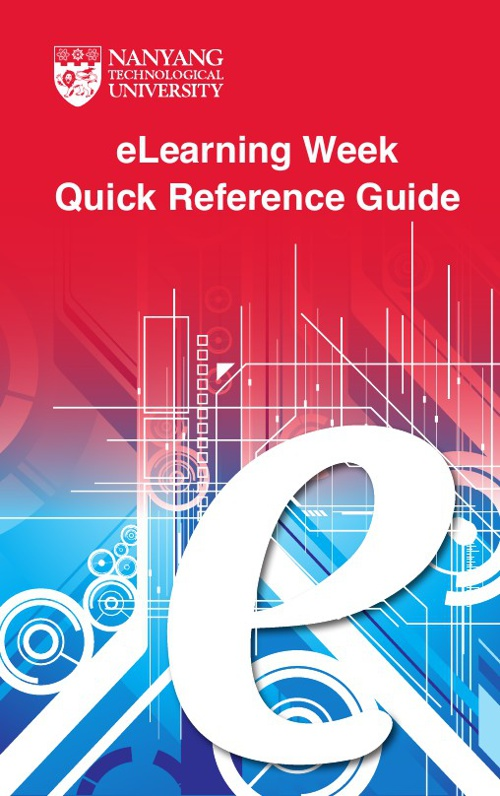 eLearning Week Quick Reference Guide, August 2012