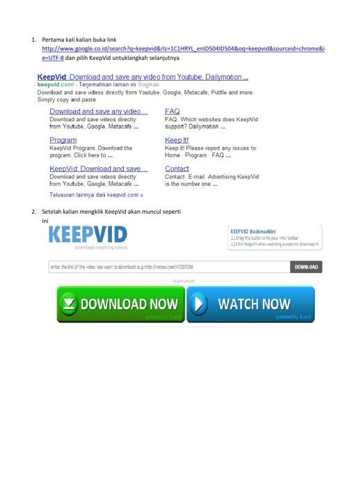 Cara MenDownload Video dari Youtube Lewat KeepVid