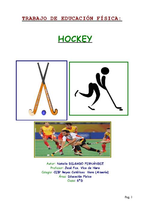 Trabajo de Gimnasia: Hockey
