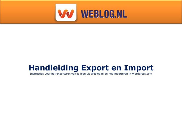 Handleiding weblog.nl