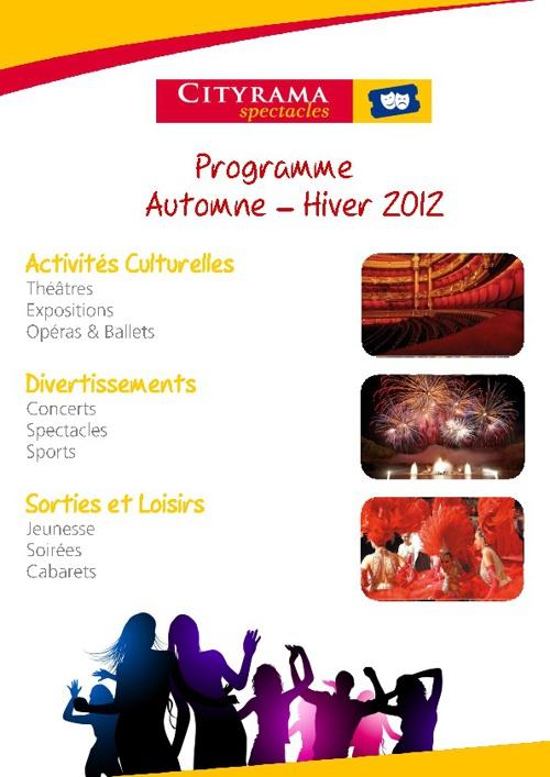 Cityrama - Programme hiver 2012