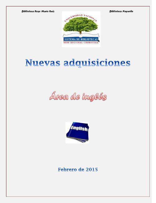 Nuevas adquisiciones Feb. 2014