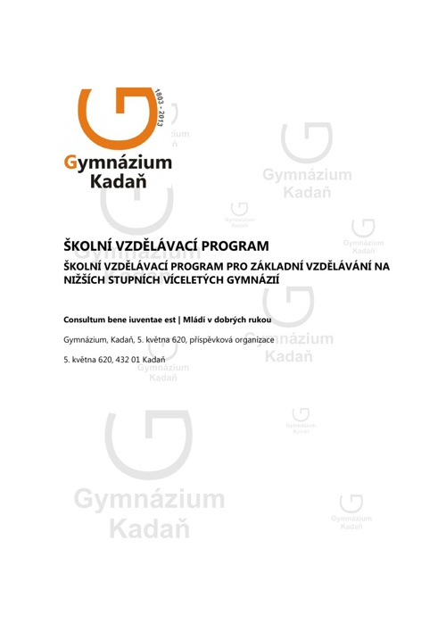 Školní vzdělávací program (8 leté Gymnázium)