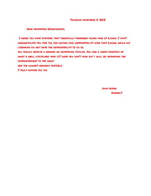 Punished: Letters to Professor Wordsworth