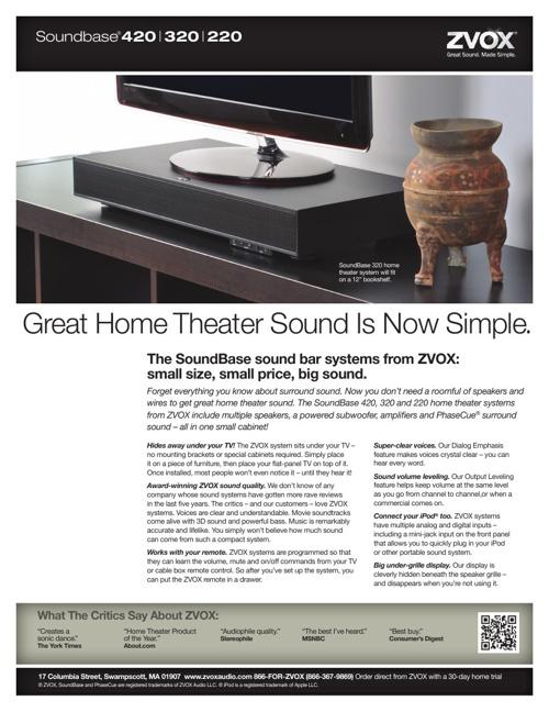 V-Series 420-320-220 Brochure